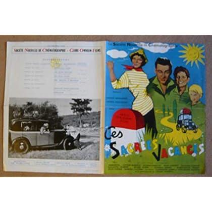 Dossier de presse de Ces sacrées vacances (1956) – Film de Robert Vernay avec Danova, S Desmarets, P Destailles – Photos N&B + couleurs - scénario – Bon état