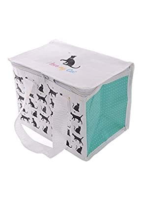 I Love My Cat Design Thermal Insulated lunch bag Cool Bag box with handles by Puckator