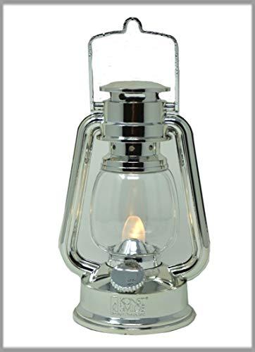CBK-MS LED warmweis flackernd Dekoleuchte silber Sturmlaterne Batteriebetrieb Dekolampe für den Wohnbereich