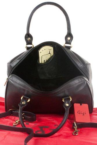 """Lederhandtasche """"Othello"""" von Gigi - GRÖßE: B: 29,5 cm, H: 18 cm, T: 16,5 cm Schwarz"""