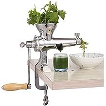 Heavy Duty Hand Manuelle Weizengras Entsafter DIY Superb Saft Extraktion für weiches Obst Gemüse Edelstahl Blattgrün Saftpresse