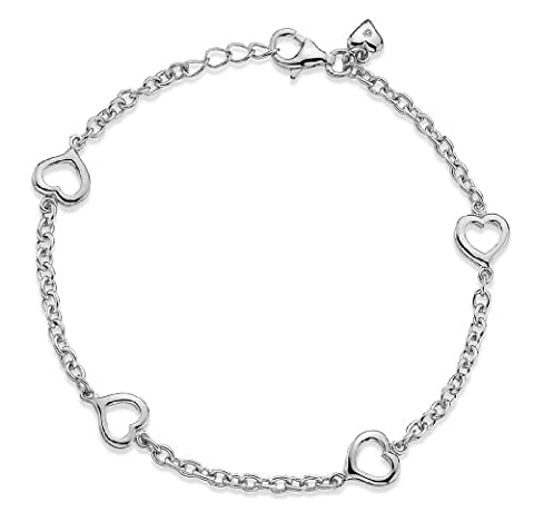Lily & Lotty Rhodium Plated 925 Sterling Silver Hand Set