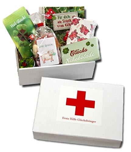 generisch Erste Hilfe Glücksbringer   Geschenkbox Glück   Geschenke Glück   GlücksgeschenkeGlücks Schokolade   Glückwunsch Geschenkidee   Glücksbox