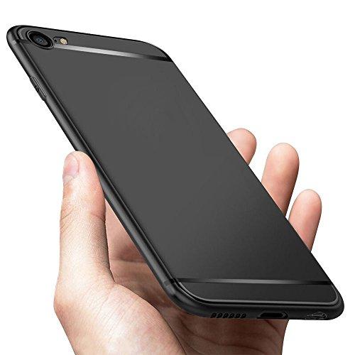 iKALULA iPhone 6S Schutzhülle, Ultra Dünn iPhone 6 Hülle Kratzfest Stoßfest Fallschutz Anti Fingerabdruck Weich Flexibel TPU Silikon Handyhülle für iPhone 6S / iPhone 6 Case Cover - Matte Schwarz