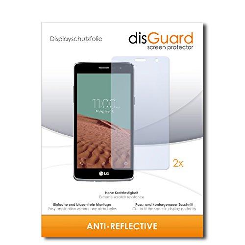 disGuard® Bildschirmschutzfolie [Anti-Reflex] kompatibel mit LG Bello II [2 Stück] Entspiegelnd, Matt, Antireflektierend, Extrem Kratzfest, Anti-Fingerabdruck - Panzerglas Folie, Schutzfolie