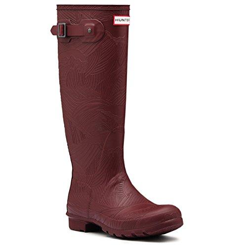 Bootss Hunter Original Tall Texture Grenat Rouge