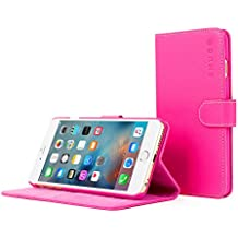 Coque iPhone 6s Plus, Snugg™ - Étui à Rabat de type Flip Cover / Smart Case En Cuir Rose Avec Garantie À Vie Pour Apple iPhone 6s Plus