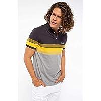 DeFacto Erkek Tişört Çizgili Slim Fit Polo T-shirt