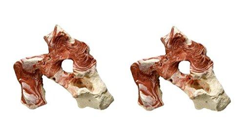 Steine-Set für Aquarium Terrarium Aquariendekoration Terrariendekoration Deko Dekoration für Aquarien Terrarien L10,5 x B8,5 x H15,5 cm