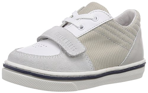 Bikkembergs Box Low G66, Premiers Pas Sneaker Bébé Garçon Multicolore (Suede/Fabric White/Grey)