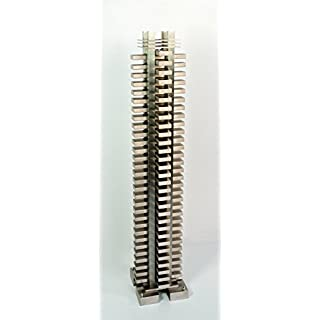 Accurp Korle Totem Tower Designer Radiator: Brushed Stainless Steel