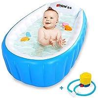 INTIME PVC Portable Inflatable Bathtub for Kids (Blue)