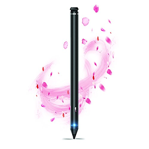 MZHOU iPad Stift- Eingabestift Touchscreen Wiederaufladbare Kapazitiver mit 2.4mm Ersetzbar Feine Spitze, 40 Stunden Playing Time & 30 Tag Standby Stylus Pen für iPad | iPad Air | iPad Pro| iPad Mini