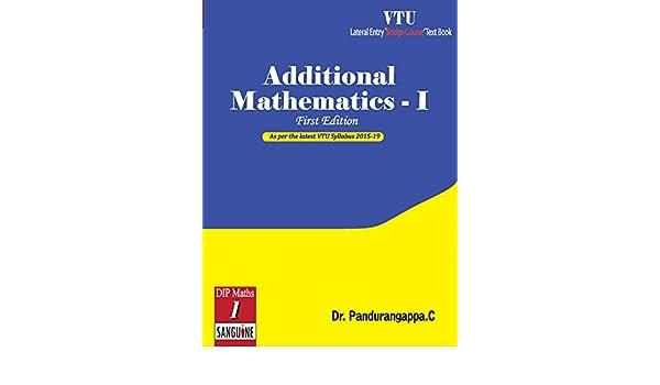 Additional Mathematics - 1: As per VTU eBook: C