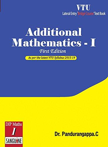 Additional Mathematics - 1: As per VTU
