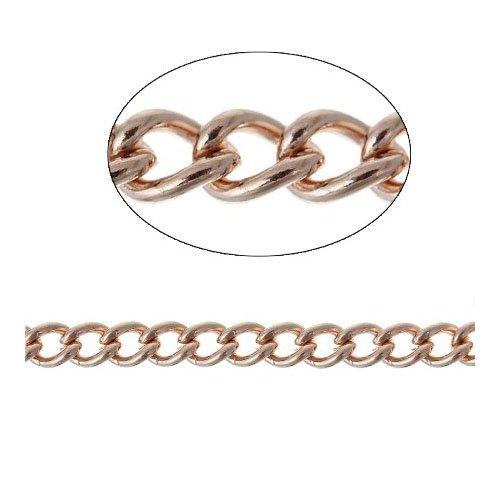 Kontinuierliche Länge 10 Metres Roségold Messing 3.5mm Panzerkette - (CH2770) - Charming Beads