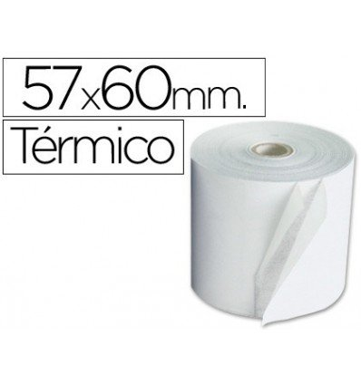 ROLLO SUMADORA TERMICO Q-CONNECT 57 MM ANCHO X 60