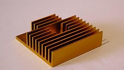 1 x gold heatsink for mk extruders from big tree
