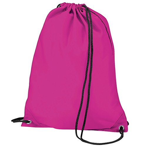 Imagen de bagbase   saco o de cuerdas impermeable/resistente al agua modelo budget deporte/gimnasio 11 litros  talla única/fucsia
