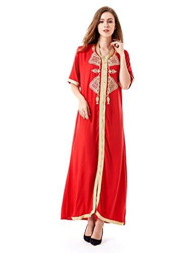 Muslim Abaya Dubai Kleid für Frauen islamischen Kleid Islamische Kleidung muslimische Kaftan Rayon Gewand Jalabiya HM1449