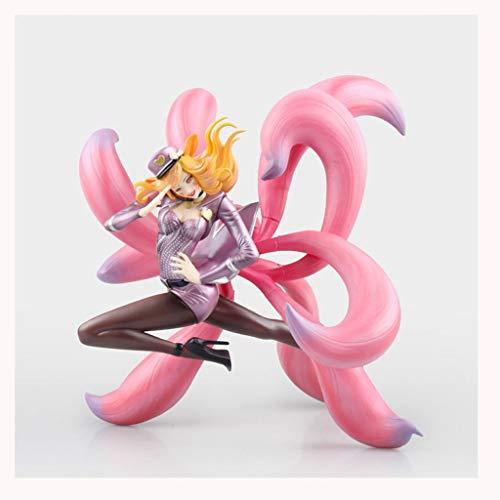 Anime Idol Singer/Nine-Tailed Fox/Pink Juego Personaje Modelo Estatua  Altura 23 5cm CQQO