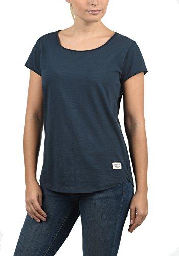 DESIRES Lykke Damen T-Shirt Kurzarm Shirt mit Rundhalsausschnitt Aus 100% Baumwolle, Größe:XL, Farbe:Insignia Blue (1991) - Yoga-baumwoll-t-shirt