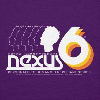 NERDO - Nexus 6 Personalized Humanoid Replicant Series - Herren T-Shirt Violett