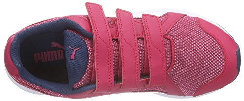 Puma Axis v4 Mesh V Jr, Sneakers basses mixte enfant Rose - Pink (rose red-white 02)