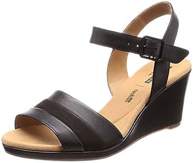 5c1c61ba50e7c7 Clarks Women s Lafley Aletha Black Leather Fashion Sandals-3.5 UK India (36  EU