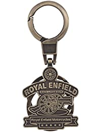 SLN Royal Enfield Inspired Tan Metal Keychain WITH BOX Bullet Bike Keychain Collectible