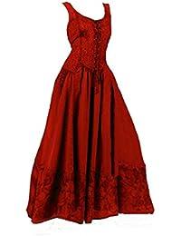 Dark Dreams Kleid Mittelalter Gothic Schnürung Audry schwarz rot grün braun weiß 36 38 40 42 44 46