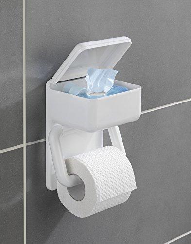 Duo-Papierhalter Toilettenpapier Badezimmer Feuchttücher Hygiene Wandhalterung Toilettenpapierhalter WC Badaccessoires Rollenhalter Klopapier Toilettenpapierspender