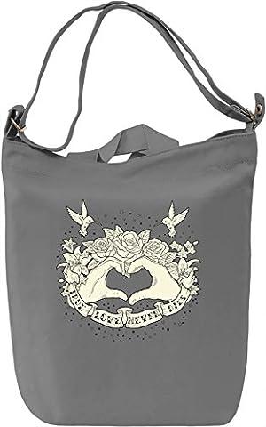 True love never dies Canvas Bag Day Canvas Day Bag  100% Premium Cotton Canvas  DTG Printing 