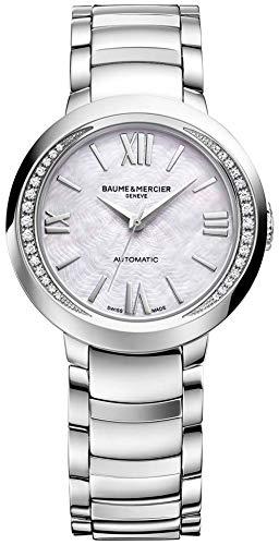BAUME & Mercier braccialetto da donna orologio bracciale acciaio inox + gomma automatico 10184