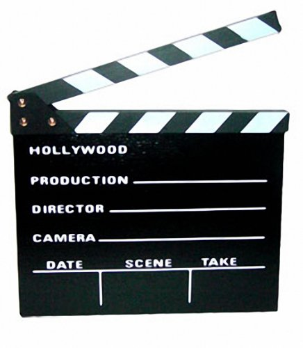Claqueta cine, madera, 31 x 27 cm