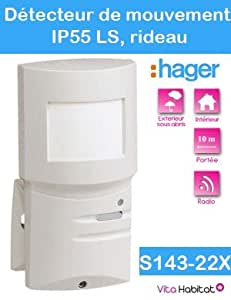 Hager détecteur de mouvement ip 55 ls radio 10m