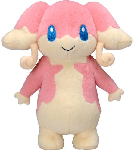 Pokemon: Best Wishes! (Schwarz + Weiß) Stofftier / Plüsch Figur: Ohrdoch / Audino 20 cm (T.T.)