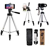 Techfire 3110 Tripod Stand for Phone and Camera Adjustable Aluminium Alloy Tripod Stand Holder for Mobile Phones…