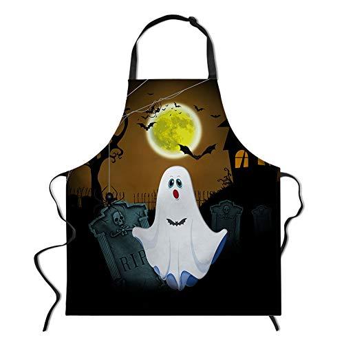 Kostüm Müssen Einen BART - spArt Halloween-Schürze, Einstellbarer Latzschürze extralange Krawatten