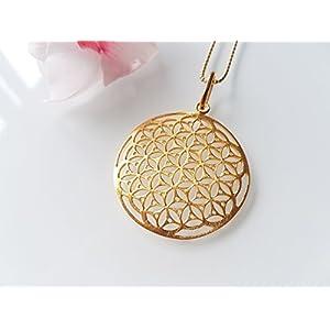 Halskette Lebensblume II 925 Vergoldet
