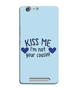 PrintVisa Designer Back Case Cover for Gionee Marathon M5 (I'm Not Your Cousin Hug Embrace)