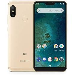 """Xiaomi Mi A2 Lite - Smartphone de 5.84"""" (4G, Snapdragon 625, RAM de 3 GB, Memoria de 32 GB, cámara Dual de 12+5 MP, Android) Color Dorado"""