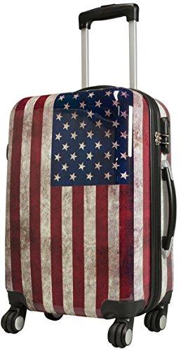 Koffer M Klein Washington Amerika 55 cm Hartschale Bord Gepäck Trolley Bowatex