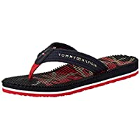 Tommy Hilfiger SIGNATURE FOOTBED BEACH, Women's Fashion Sandals, Blue, 39 EU