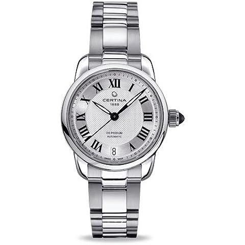 Certina  - Reloj Analógico de Automático para Mujer, correa de Acero inoxidable color Plateado