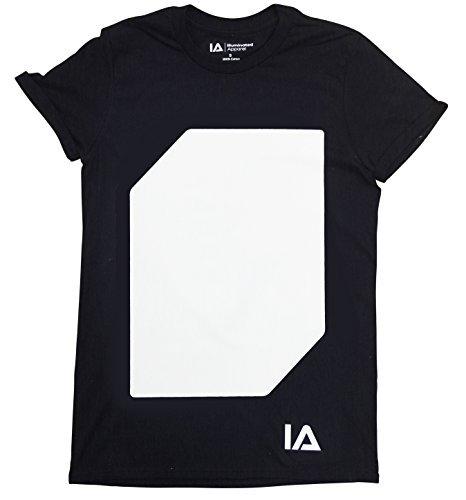 Interaktive Leucht T-Shirt (Schwarz/Grün, 12-14 Jahre)