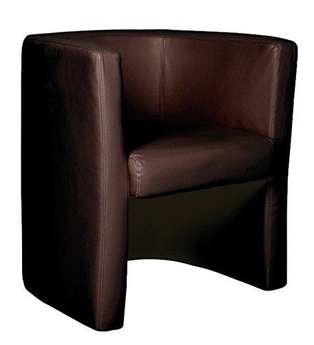 BROWN elegante Alta della poltrona imbottita in (Sedile In Pelle Task Chair)