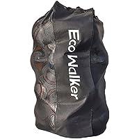 Eco Walker - Borsa per palloni da Calcio, Grande capacità (Contiene 16 palloni da Calcio) con Coulisse in Rete Resistente con Tracolla Regolabile e Manico Spesso