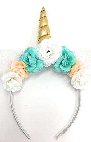 Einhorn Haarreif Haarschmuck Haarband Märchen Fabel Pegasus viele Modelle Farben (Typ 7)