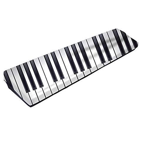 61/88 Tastatur-Abdeckung, elastischer Tastatur-Stoff, 3D-Klaviertastatur, Druckmuster, Spandex-Gewebe, dehnbare elektronische Klaviertastatur, Staubschutz für 61/88 Tasten weiß